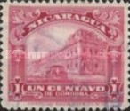 [Government Building in Managua and León Cathedral Stamps of 1914 & 1922 in New Colours, Typ CG16]