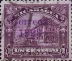 [Government Building in Managua and León Cathedral Stamps of 1914 & 1922 Overprinted