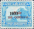 [Government Building in Managua and León Cathedral Stamps of 1929 and 1931  and surcharged