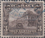 [Government Building in Managua and León Cathedral Stamps of 1914 & 1922 in New Colours, Typ CI27]