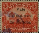 [Government Building in Managua and León Cathedral Stamps of 1914 Overprinted and Surcharged, Typ CJ1]