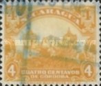 [Government Building in Managua and León Cathedral Stamps of 1914 & 1922 in New Colours, Typ CJ18]