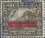 [Government Building in Managua and León Cathedral Previous Issues Overprinted with Signatures from the Minister of Public Works and the Postmaster-General, Typ CK11]