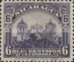 [Government Building in Managua and León Cathedral Stamps of 1914 & 1922 in New Colours, Typ CL26]