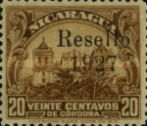 [Government Building in Managua and León Cathedral Stamps of 1922 Overprinted