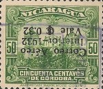 [Government Building in Managua and León Cathedral  - Previous Issues Overprinted