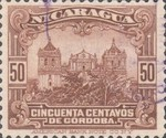 [Government Building in Managua and León Cathedral Stamps of 1914 & 1922 in New Colours, Typ CQ22]