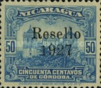 [Government Building in Managua and León Cathedral Stamps of 1914 Overprinted