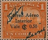 [Airmail Inland - Previous Issues Overprinted with Signatures from the Minister of Public Works and the Postmaster-General and Surcharged, Typ DR10]