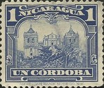 [Government Building in Managua and León Cathedral Stamps of 1914 & 1922 in New Colours, Typ DR17]
