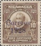 [The 400th Anniversary of the Founding of Leon & Granada  Stamp of 1914 Overprinted in Violet, Typ DU5]