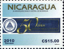 [The 50th Anniversary of the Nicaragua Central Bank, Typ EHW]