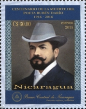 [The 100th Anniversary (2016) of the Death of Rubén Darío, 1867-1916, type EJW]