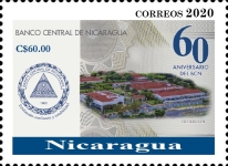 [The 60th Anniversary of the BCN - Central Bank of Nicaragua, type EKN3]