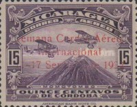 [Airmail - Airplanes over Momotombo Stamps of 1931 Overprinted