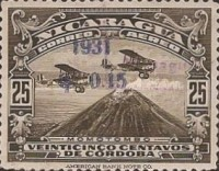 [Airmail - Airplanes over Momotombo Stamps of 1929 Surcharged, Typ FQ5]