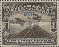 [Airmail - Airplanes over Momotombo Stamps of 1929 Surcharged, Typ FQ6]
