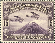 [Airmail - Airplanes over Momotombo, Typ FQ9]