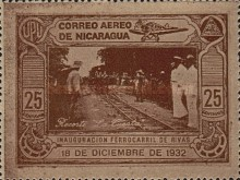 [Airmail - Inauguration of the Railroad from San Jorge to San Juan del Sur, Typ HB]