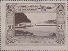 [Airmail - Inauguration of the Railroad from San Jorge to San Juan del Sur, Typ HC]
