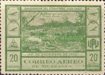 [Airmail - Inauguration of the Railroad Leon to El Sauce, Typ HK]