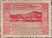 [Airmail - Inauguration of the Railroad Leon to El Sauce, Typ HN]