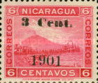 [Momotombo Mountain Stamps of 1900 Surcharged, type Q16]