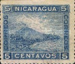 [Momotombo Mountain Stamps of 1900 - New Colors, type Q22]