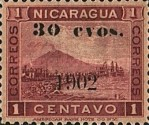 [Momotombo Mountain Stamps of 1900 Surcharged, type Q25]