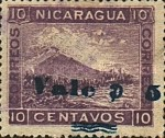 [Momotombo Mountain Stamps of 1900 Surcharged in Blue or Black, type Q29]