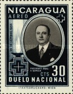 [Airmail - The 1st Anniversary of the Death of Anastasio Somoza, 1896-1956, Typ SZ]