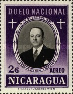 [Airmail - The 1st Anniversary of the Death of Anastasio Somoza, 1896-1956, Typ TA]