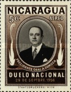[Airmail - The 1st Anniversary of the Death of Anastasio Somoza, 1896-1956, Typ TC]
