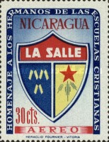 [Airmail - Brothers of the Nicaraguan Christian Schools Commemoration and Hl. Jean Baptist De La Salle, Typ UY1]