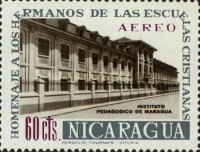 [Airmail - Brothers of the Nicaraguan Christian Schools Commemoration and Hl. Jean Baptist De La Salle, Typ UZ1]