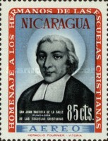 [Airmail - Brothers of the Nicaraguan Christian Schools Commemoration and Hl. Jean Baptist De La Salle, Typ VA1]