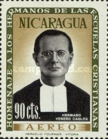 [Airmail - Brothers of the Nicaraguan Christian Schools Commemoration and Hl. Jean Baptist De La Salle, Typ VB1]