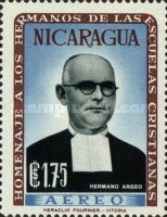 [Airmail - Brothers of the Nicaraguan Christian Schools Commemoration and Hl. Jean Baptist De La Salle, Typ VE1]