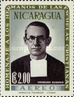 [Airmail - Brothers of the Nicaraguan Christian Schools Commemoration and Hl. Jean Baptist De La Salle, Typ VF]