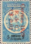 [Telegraph Stamps Overprinted in Red, Typ M]