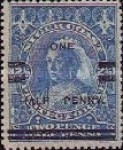[Old Calabar - No. 12 Surcharged, type N]