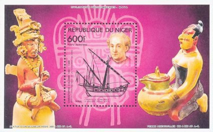 [Airmail - The 500th Anniversary of the Discovery of America - Ships, Typ ]