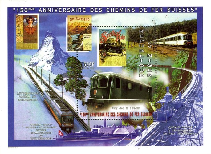 [The 150th Anniversary of Railways in Switzerland, Typ ]