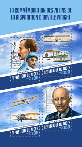 [The 70th Anniversary of the Death of Orville Wright, 1871-1948, type ]