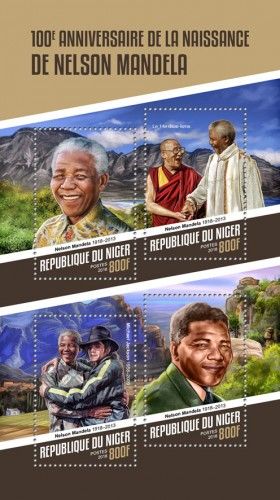 [The 100th Anniversary of the Birth of Nelson Mandela, 1918-2013, type ]