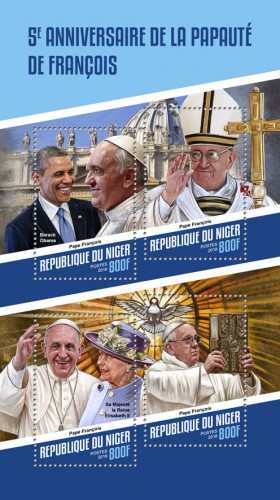 [The 5th Anniversary of the Papacy of Pope Francis, type ]