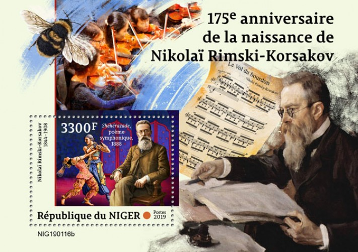 [The 175th Anniversary of the Birth of Nikolai Rimski-Korsakov, 1844-1908, type ]