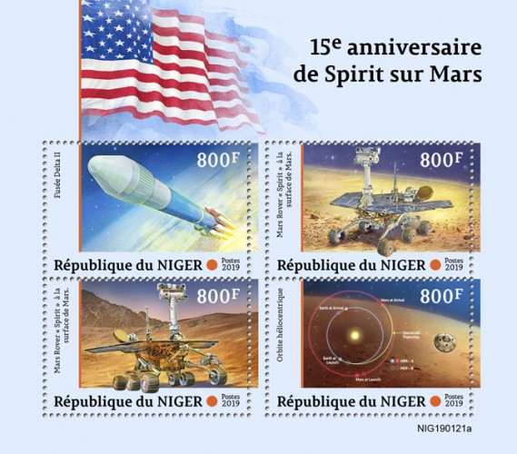 [The 15th Anniversary of Spirit Landing on Mars, type ]