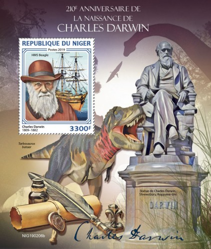 [The 210th Anniversary of the Birth of Charles Darwin, 1809-1882, type ]