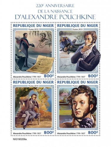 [The 220th Anniversary of the Birth of Alexander Pushkin, 1799-1837, type ]